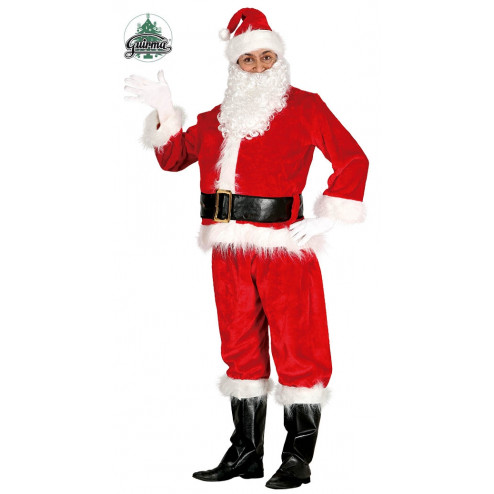 COSTUME BABBO NATALE VELLUTO EXTRA LUSSO