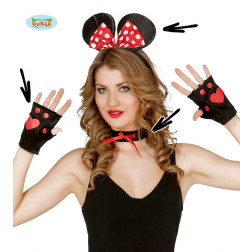 KIT TRAVESTIMENTO MINNIE TOPOLINA